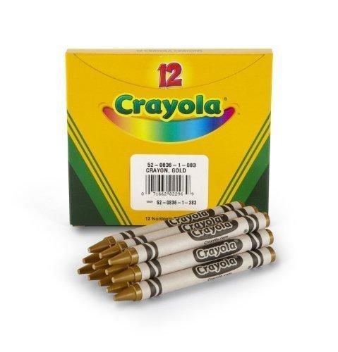 Crayola Bulk Crayons Gold (2-Pack of 12)