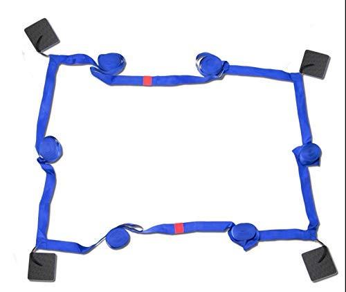 RomiSport Linien für Beach Volleyball - Spielfeldmarkierung Courtline 16x8m, Produzent (Blau, 16x8m)