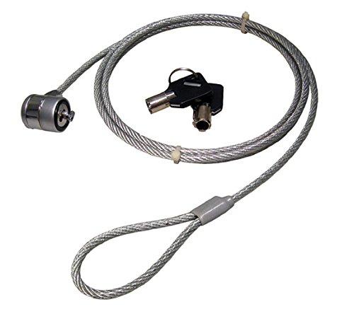 C63® - Laptop Beveiligingskabel met Barrel Lock. 2 sleutels meegeleverd zilver