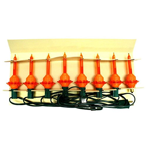Christopher Radko 43293 - 7 Light Green Wire Orange Bubble Light Set