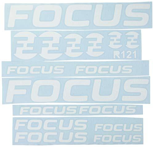 Ecoshirt 3D-Y7UJ-15UW Pegatinas Focus R121 Vinilo Adesivi Decal Aufkleber Клей MTB Stickers Bike, Blanco