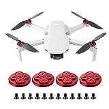 BSTEEN 4PCS antipoussière Bouchon Moteur en Aluminium étanche pour Upgraded DJI Mini Drone Accessoire Mavic (Red)