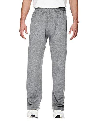Fruit of the Loom 7.2 oz. Sofspun Open-Bottom Pocket Sweatpants, Large, ATHLETIC HEATHER