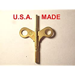 Seth Thomas Trademark Clock Winding Key Double End #4/0000 for #120 and #124 Movements