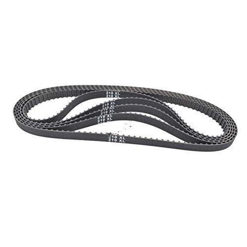 ZHaonan-timing belt 5pcs XL Timing belt, Length 210/212/214/216/218, Width 3.35mm/9.4mm, Teeth 105/106/107/108/109, Synchronous Belt 210XL 212XL 214XL 216XL 218XL Replacement parts