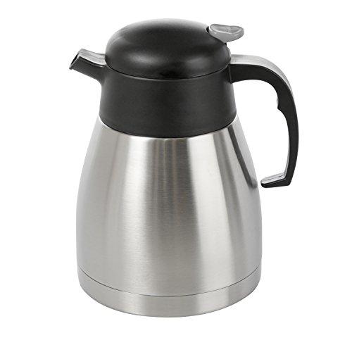 Wenco Isolierkanne, 1 Liter, Einhandautomatik, Kunststoff/Edelstahl, Schwarz/Silber, 515290