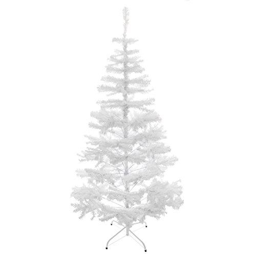 LINDER EXCLUSIV - Albero di Natale Artificiale con Supporto, 180 cm, Colore: Bianco