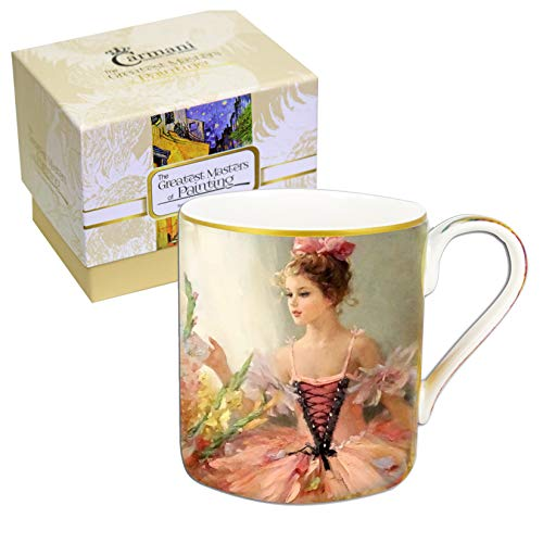 CARMANI - Mug classique décoré avec peinture impressionniste 380 ml