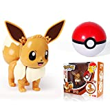 Pokemon Juguete Deformación Bola Huevo Eevee Niño Rompecabezas Iluminación Juguete Regalo, Pokeball Set Pop-Up Elf-Ball Anime Figura Monstruo