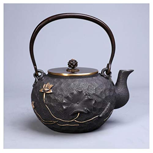 Gietijzertheepot Kettle Chinese theepotten Unique Kung Fu Teaset Home Office Ronde Theepot 1200ml (Color : D)