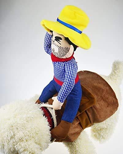 Generice Halloween pet costume dog costume Christmas cowboy dog clothes,
