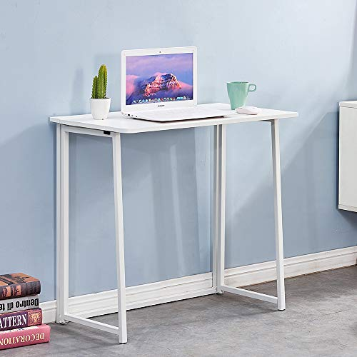 Redd Royal Folding Computer Desk, Collapsible Home Office Study PC Laptop Desk for Small Space...