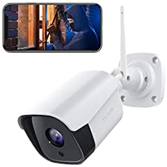 [ IP66 WEATHERPROOF GUARD ] IP66 weatherproof makes Victure outdoor security camera ideal for using outside and keeping recording in the ever-changing outdoor environment no matter rain or shine. [ TWO-WAY AUDIO ] This outdoor camera with an integrat...