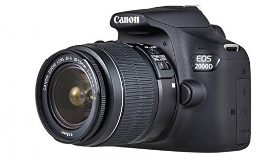 Canon EOS 2000D 18-55 IS SEE Fotocamera, Nero