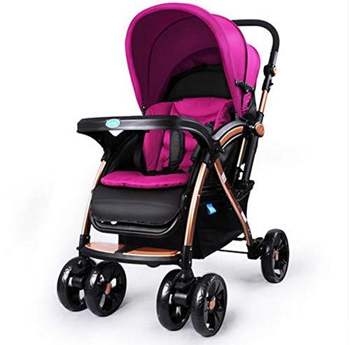 ZhiGe Kinderwagen Sport Baby-Vierrad-Stoßdämpfer-Kinderwagen Reversible Multifunktions-Oxford-Tuch Faltbare Voll-Tasche Kind Trolley