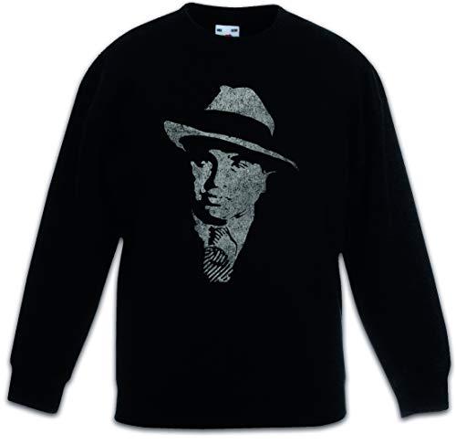Urban Backwoods Al Capone Vintage Portrait Sudadera Suéter para Niños Niñas Pullover Schwarz