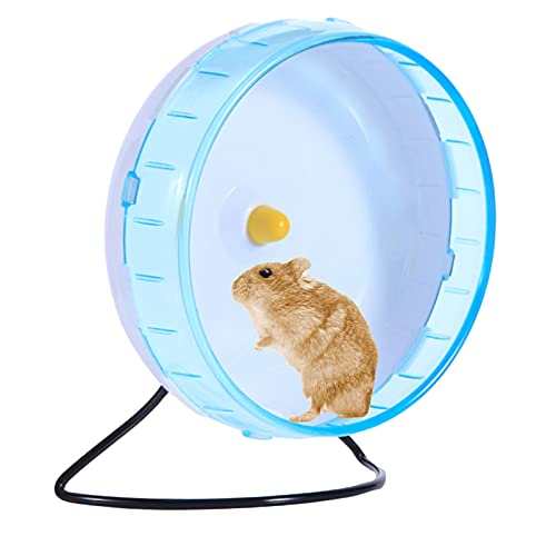 iFCOW Laufrad für Hamster, 21 cm Haustier Maus Mäuse Rennmaus Ratten Silent Running Spinner Übungsrad Spielzeug