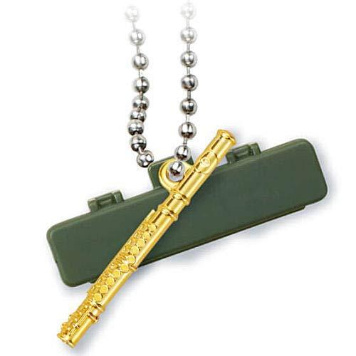 キラメッキ楽器#13 [4.フルート(ゴールド)](単品) ガチャガチャ カプセルトイ