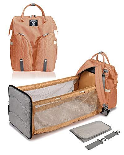 Milnsirk Mochila de Pañales para Bebé Impermeable Gran Capacidad Mochila de Cambio Bolsa Plegable de Viaje para Pañales