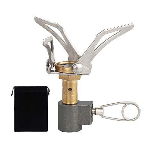 NOCNEX シングルバーナー コンパクトバーナー ミニガスバーナー OD缶対応 自由に火力調節 高効率発熱量 折りたたみ式 小型軽量 キャンプ 登山 アウトドア 防災グッズ 携帯便利 収納ケース付き