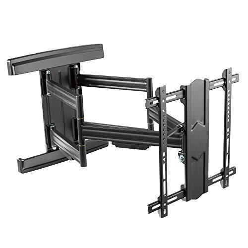 RICOO Premium TV Fernseher-Wand-Halterung Schwenkbar Neigbar (S7544-B) Fernsehhalterung Universal für 55-100 Zoll (bis 70-Kg, Max-VESA 400x400) Curved LCD OLED Bildschirm