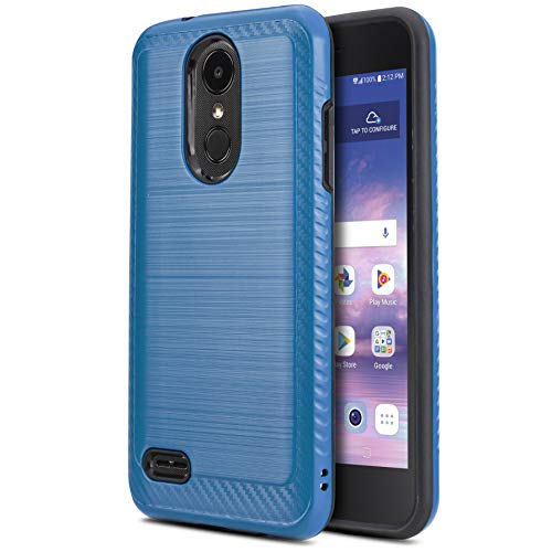 CasemartUSA Phone Case for [LG Rebel 4 LTE (L212VL, L211BL)], [Modern Series][Blue] Shockproof Cover Impact Resistant Defender for Rebel 4 LTE (Tracfone, Simple Mobile, Straight Talk, Total Wireless)