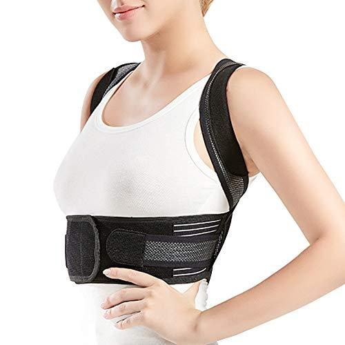 MISSMAO_FASHION2019 Geradehalter Rücken Bandage zur Haltungskorrektur bei Rücken Schulterschmerzen,Körperhaltungskorrektor und Rückenstabilisator für Kinder und Erwachsene Schwarz XS