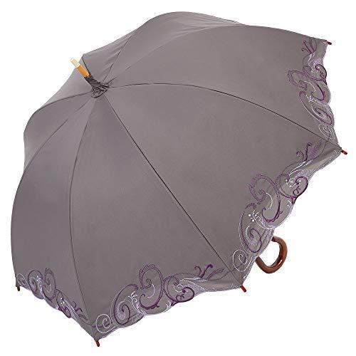 日傘 女優日傘 長日傘 完全遮光 遮熱 UVカット かわず張り 涼しい 晴雨兼用傘 特殊2重張り スワロフスキー ...