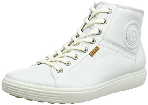 Ecco Damen SOFT7W High-Top, Weiß (WHITE 1007), 39 EU