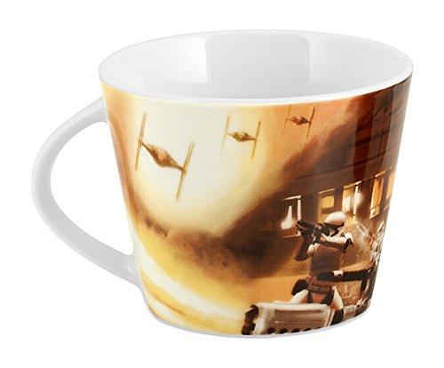 HOME - Taza de té, línea Star Wars, decoración Capitán Phasma, de Porcelana Multicolor, 11,5 x 9 x 7 cm