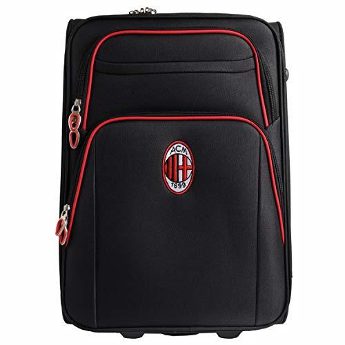 0901N|#Ac Milan Maleta con Ruedas, Color Negro, XL