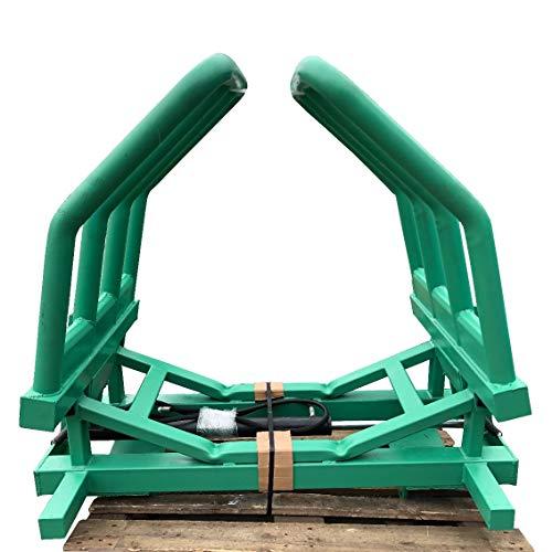 Hydraulische Ballenzange -Greifer Zange mit Euroaufnahme Rundballenzange für Frontlader / 1,00m bis 1,80m Durchmesser und bis max. 1.200kg Ballengewicht