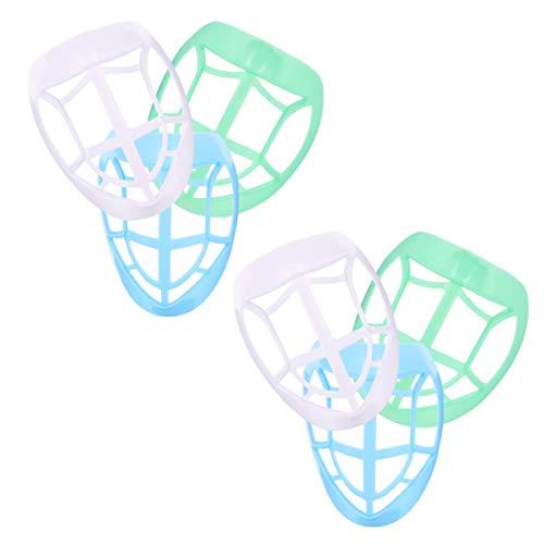 Healifty Lippenstift-Schutzhalterung 3D-Halterung Interner Stützhalter Rahmen Verschiedene Innere Stützhalterungen Sorgen für Ein Reibungsloses Atmen für Mund- Und Nasenschutz (6 Stück).