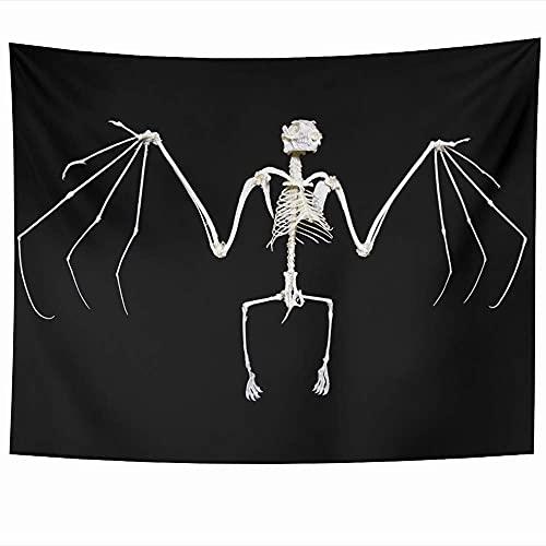 Tapices para colgar en la pared, esqueleto blanco, zorro, fruta, espina dorsal, murciélago, a menudo llamado anatomía, animales negros voladores, vida silvestre, vacaciones, tapiz, manta de pared, dec