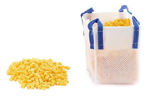 SIKU 5595 - Gelbes Granulat mit Big-Bag, Kunststoff, Vielseitig einsetzbar, 150g Schüttgut, gelb