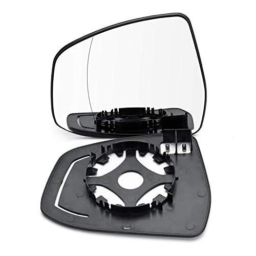 BYWWANG 1 par de Lentes de Cristal de Espejo retrovisor calefactadas de ala Lateral de Puerta Delantera RHD para Ford Focus 2008-2018