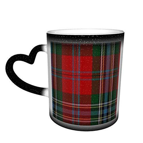 MacLean of Duart Tasse, magischer Farbwechsel, ClanFamily, Tartan, personalisierter Druck, Keramik, heiß, hitzeempfindlich, für Geschenk, Tee, Kaffee