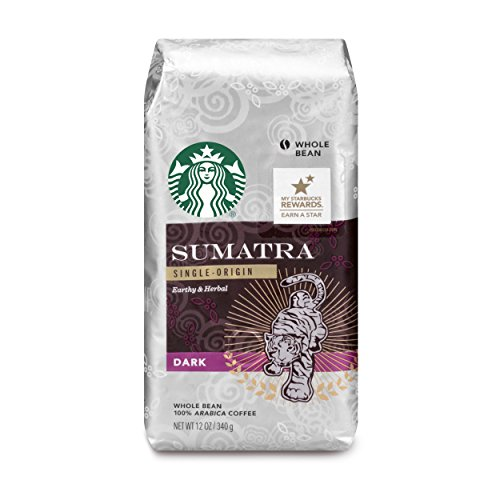 Starbucks Sumatra Dark Roast Whole Bean Coffee, 12 Ounce (Pack of 6)