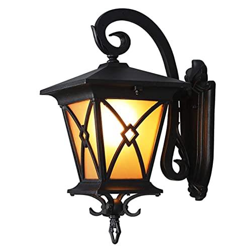Aplique de Pared Exterior para Porche, linternas de Pared Exterior E27 Lámpara de Pared Exterior de Aluminio Linterna de Pared de Metal para Porche, balcón, Patio y Garaje.