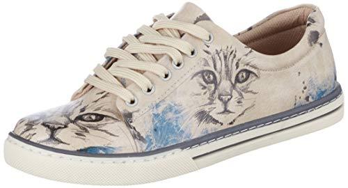 DOGO Sneaker Deepness beige/blau/schwarz EU 39