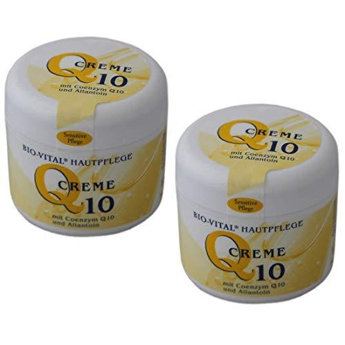 2x Anti-Aging Coenzym Q10 Gesicht, Hals, Dekolleté Creme, Gesichtscreme, Hautpflege, Gesichtspflege, Körperpflege, Hautcreme für trockene Haut