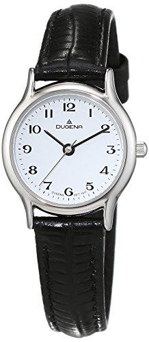 Dugena Damen-Armbanduhr Vintage - Traditional Classic Analog Quarz Leder 4460536