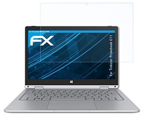 atFolix Schutzfolie kompatibel mit Trekstor Primebook C11 Folie, ultraklare FX Displayschutzfolie (2X)