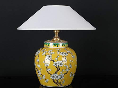 Chinesische Vasenleuchte mit Pflaumenblüte Vase gelb