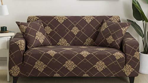 Funda de sofá con estampado elástico de color gris,...