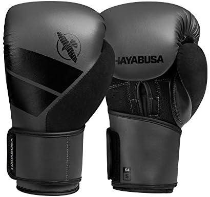 Hayabusa S4 - Kit de guantes de boxeo y vendas de mano, Gris, 16 onzas
