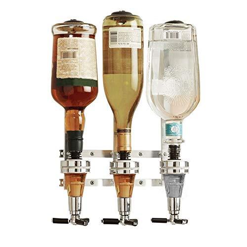 Flaschenständer Bar Optic Alkohol Likörspender Bar Caddy wandmontiert Alkohol Flaschenhalter Wein Getränkehalter Rack für Wein Bier Spirituosen Wodka Cocktail (3 Flaschen)