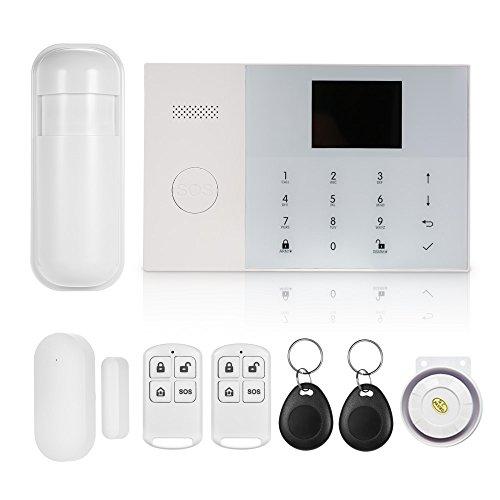 OWSOO 433MHz Sistema de Alarma gsm&WIF Inalámbrica Sistema de Marcación Automática de Alarma con Pantalla LCD Sensor de Puerta Sensor de Movimiento PIR Soporte Control App