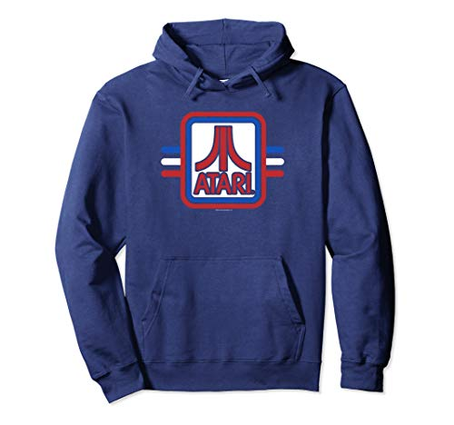 Atari Red, White and Blue Hoodie, Unisex, 3 Colors, S to 2XL