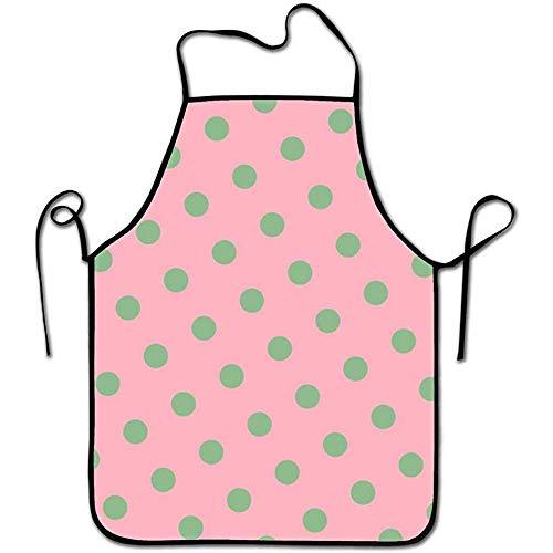 Myrdora Unisex-Küchenschürze ohne Taschen, rosa Hüftgurte und Beistelltisch zum Kochen, Basteln, Grillen, Backen